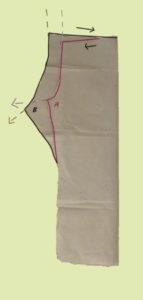 So unterscheiden sich die Schnittteile einer Hose vorn und hinten