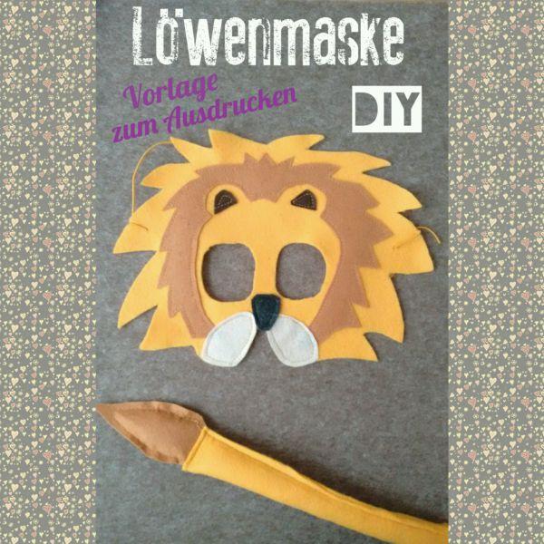 Löwenmaske Tiermaske Vorlage