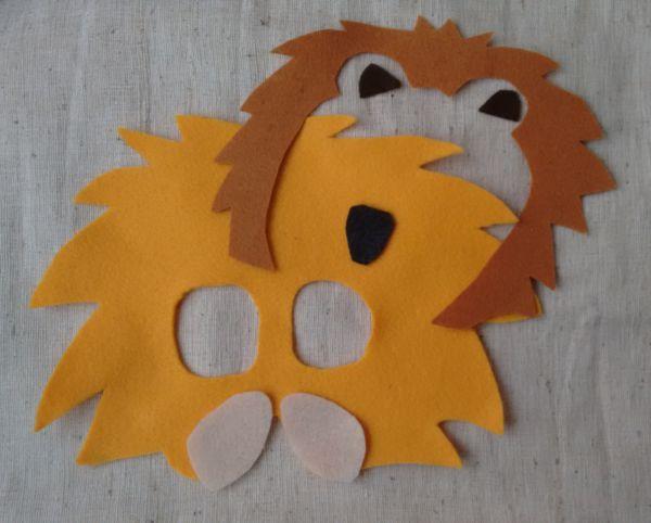 Löwenmaske nähen Anleitung 1