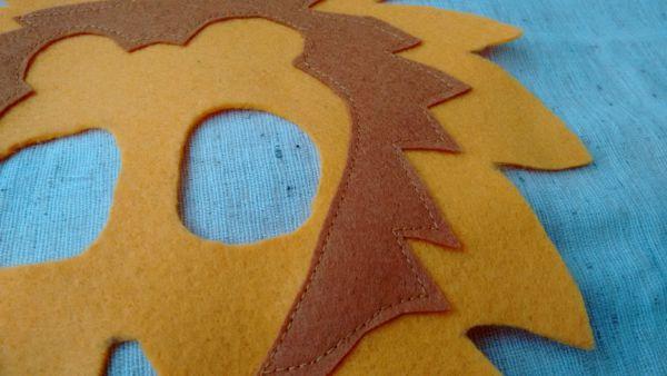 Löwenmaske nähen Anleitung 4