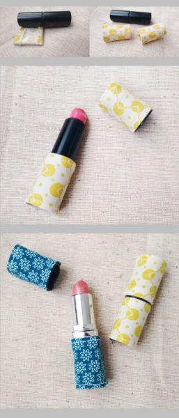 Stoffreste Idee - Kleidung für den Lippenstift