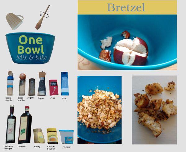 One bowl Bretzel Stücke Rezept