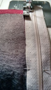 Reißverschluss einsetzen Kapuzenjacke