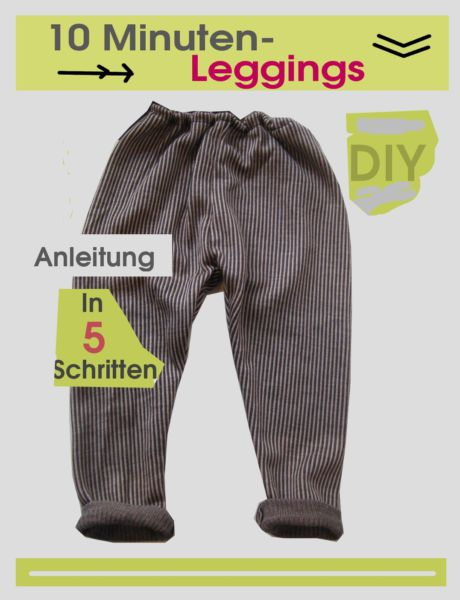 Leggings nähen in 10 Minuten • eager self