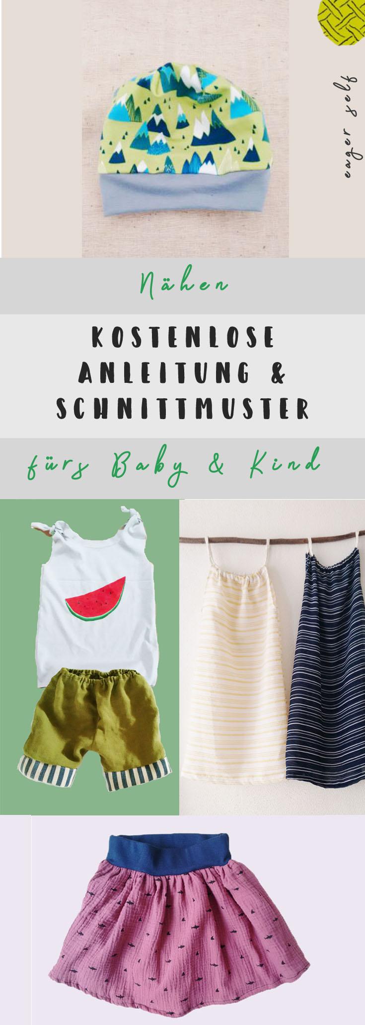 Kostenlose Anleitungen und Schnittmuster für Kinderkleidung und Nähen fürs Baby