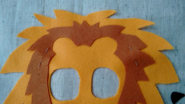 Löwenmaske nähen Anleitung 2