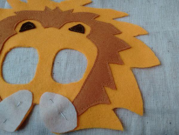 Löwenmaske nähen Anleitung 6