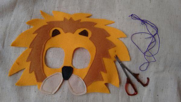 Löwenmaske nähen Anleitung 8