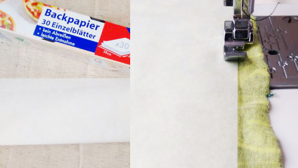 Nähtipps mit Backpapier