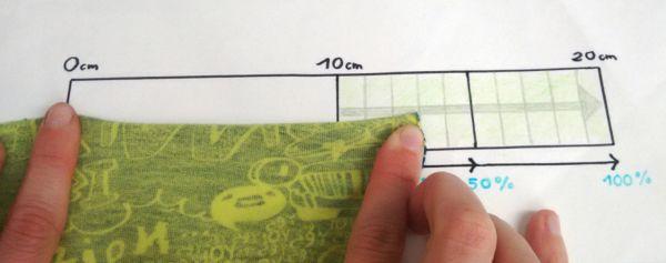 Maß nehmen bei elastischen Stoffen - So geht's