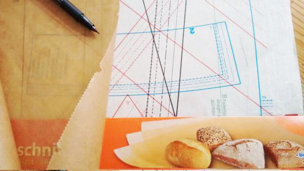 Schnittmuster aus Backpapier machen