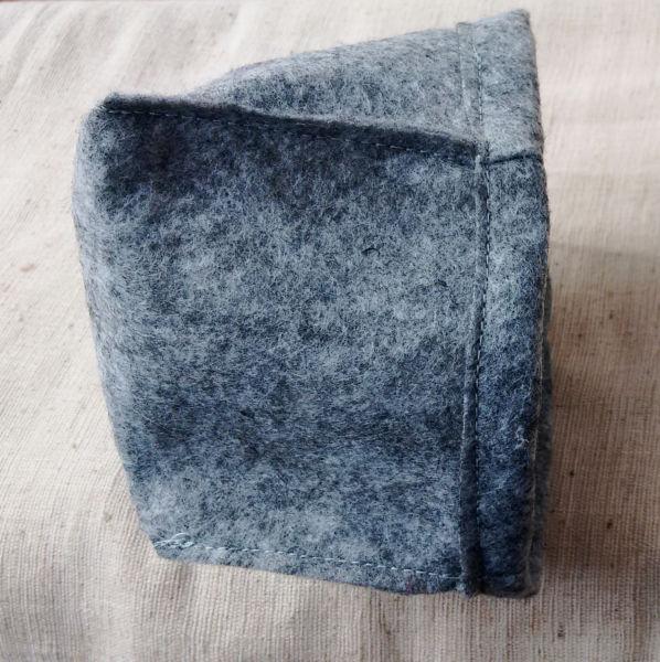 Filzkorb einfacher Umschlagsaum