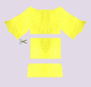 Loop aus T-Shirt schneiden