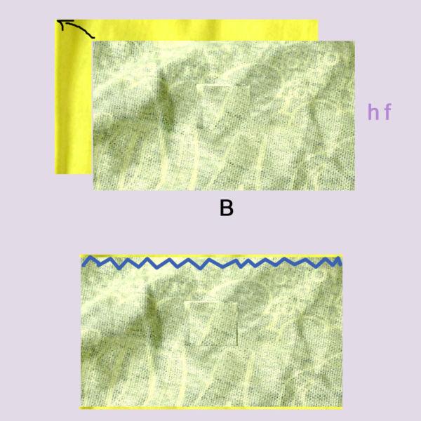 Zweifarbiges Multifunktionstuch zusammennähen