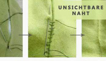 Unsichtbare Naht mit Leiterstich - So gehts