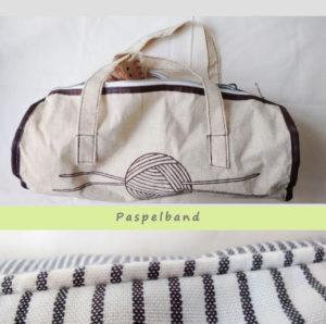 Paspelband an Tasche und Kissen