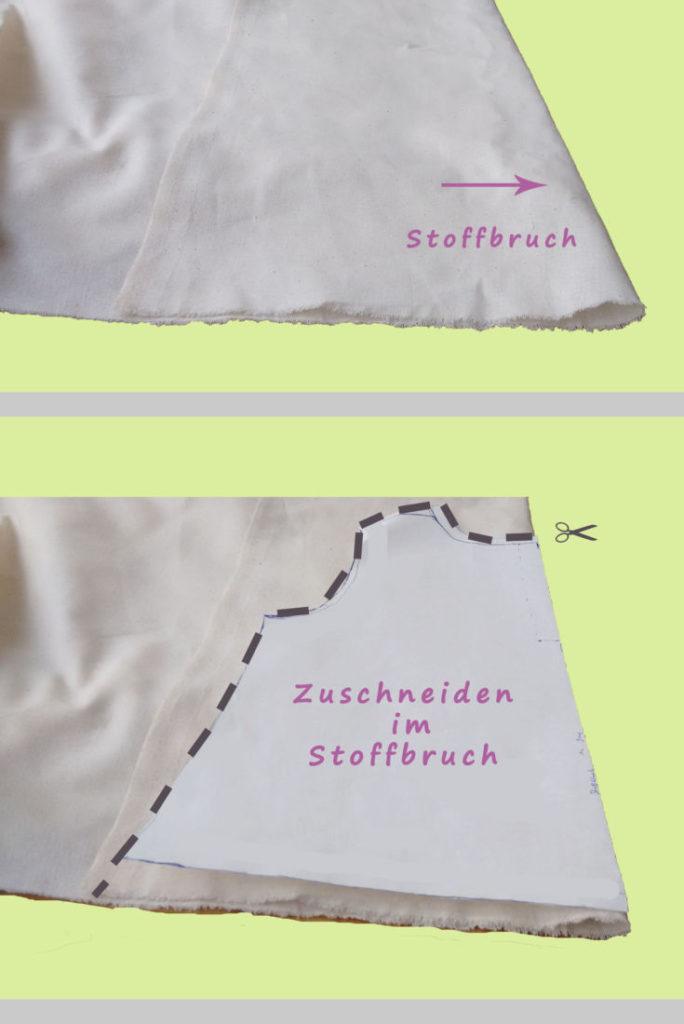 Zuschneiden im Stoffbruch - Nählexikon