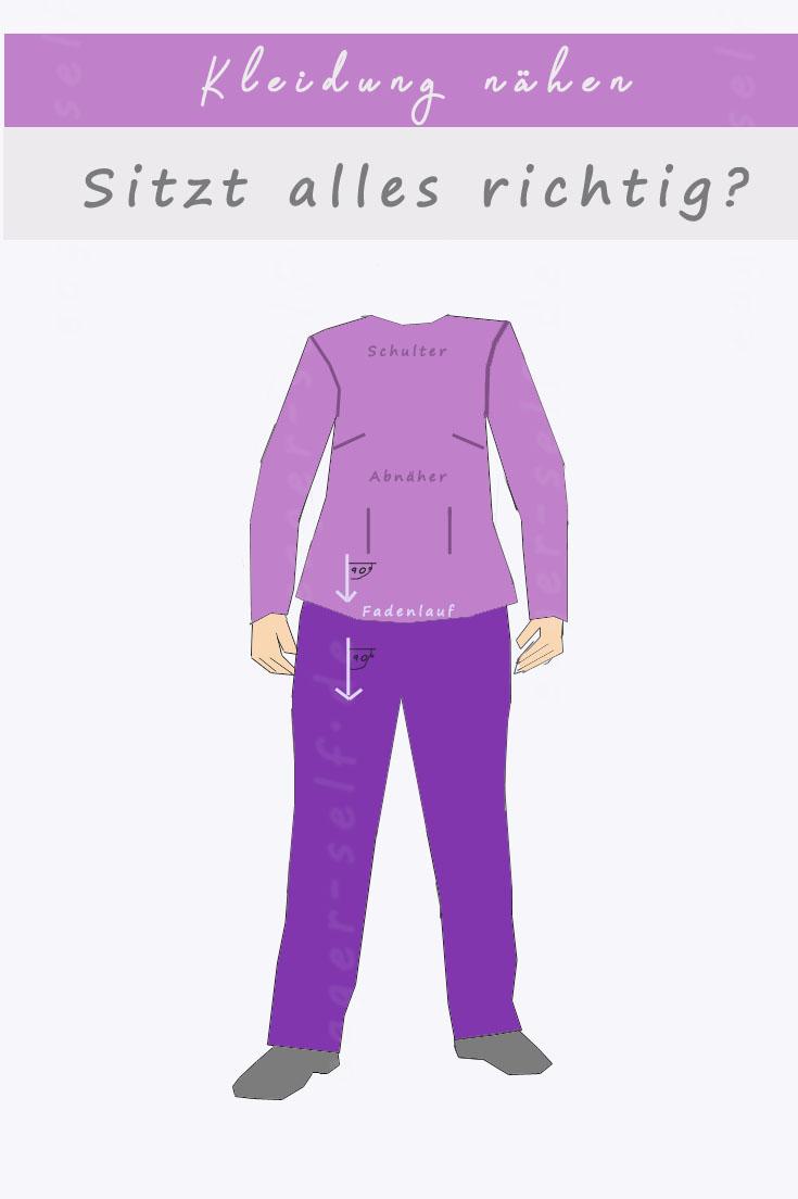 Kleidung nähen - Darauf musst du bei der Anprobe achten