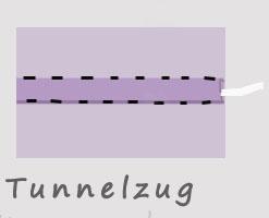 Tunnelzug nähen mit Gummikordel