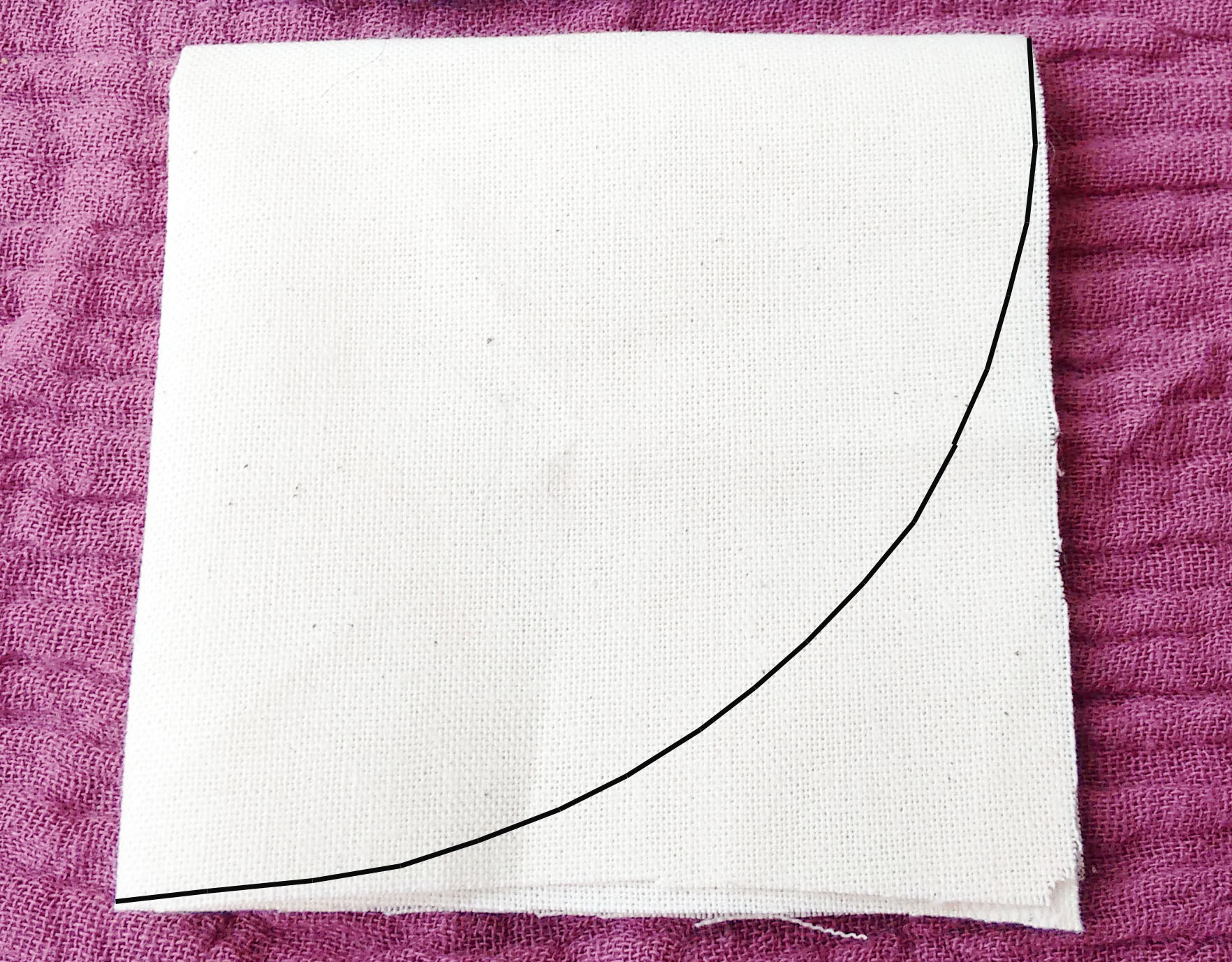 Kreis schneiden aus Stoff - Schritt 4 - Zuschneiden