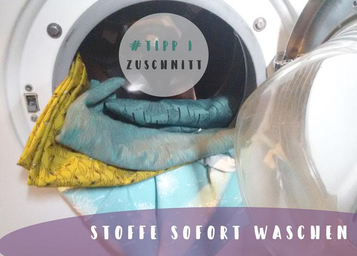 Zuschneiden Tipp 1: Stoffe gleich nach dem Kauf waschen