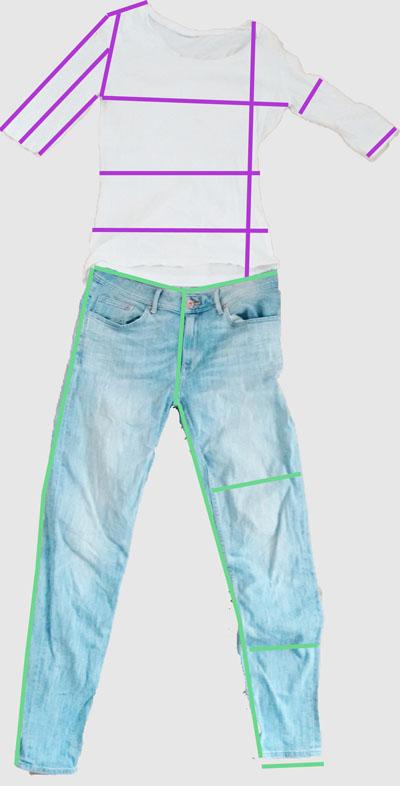 Kleidungsmaße messen