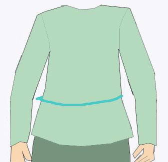 Taillenweite messen nähen