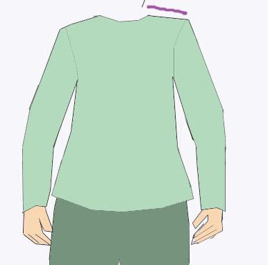 Schulterbreite messen - nähen
