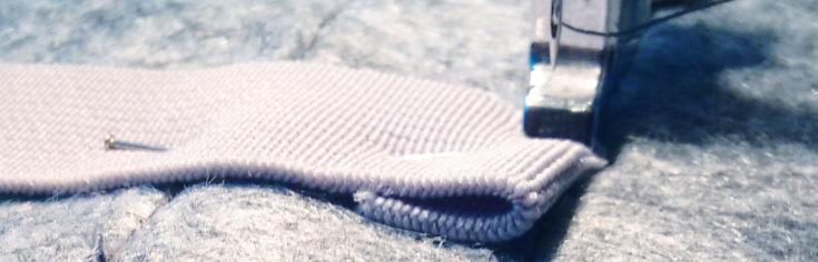 Kabeltasche selbst nähen mit Gummibändern