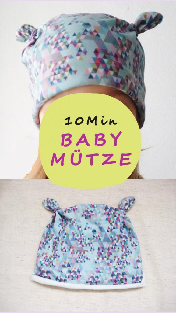 Babymütze nähen - Mit super einfachem Schnittmuster