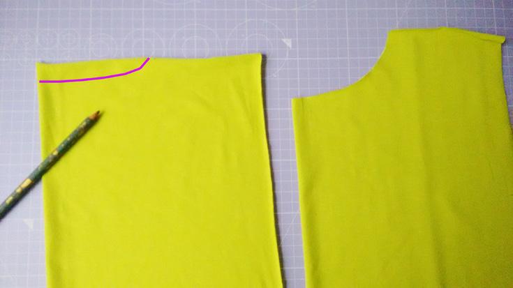 Shirt nähen - Halsausschnitt vorn und hinten