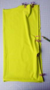 Einfaches Shirt nähen - Seitenmarkierung