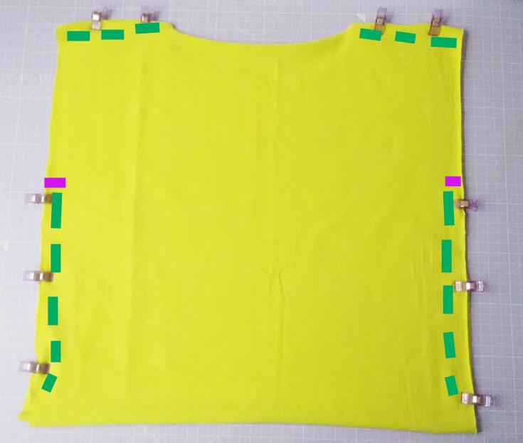Einfaches Shirt nähen - Schnittmuster Quadrat