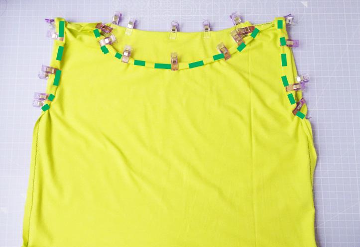 Einfaches Shirt nähen - Säumen der Abschlüsse