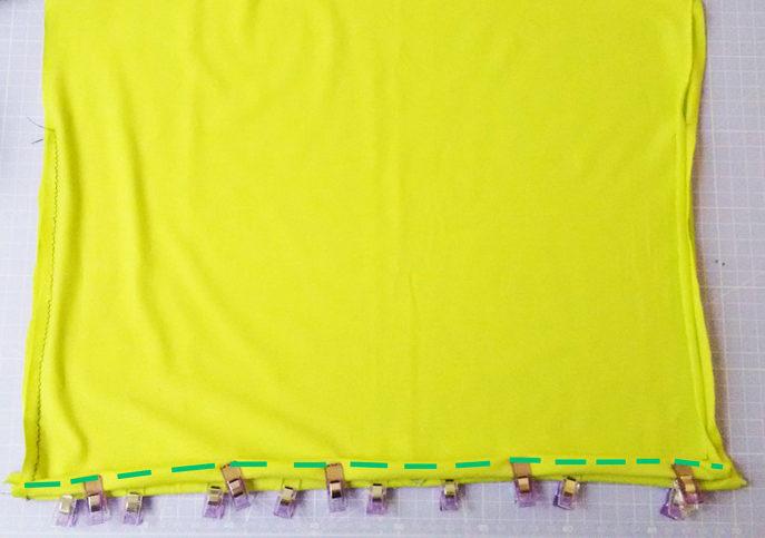 Einfaches Shirt nähen - Unterer Saum
