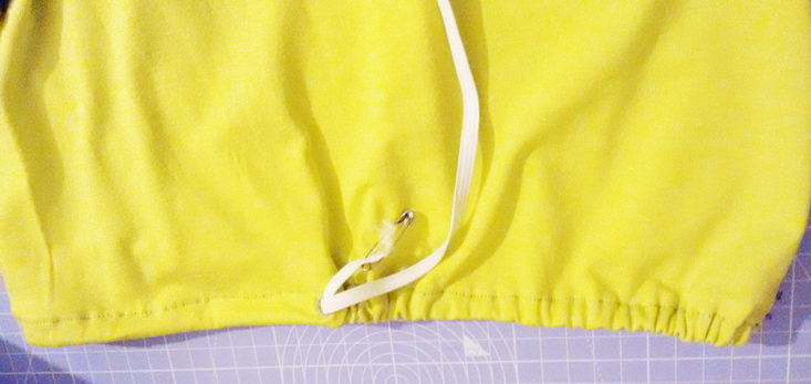 Einfaches Shirt nähen - Gummizug