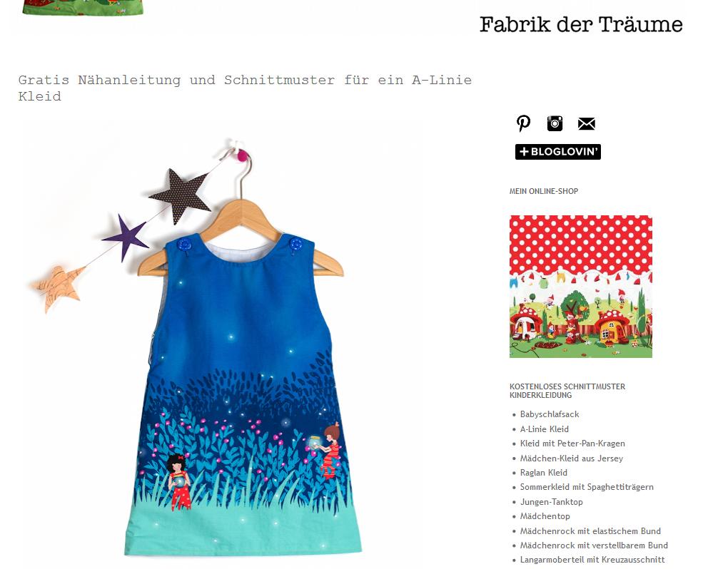 schnittmuster kleid mädchen kostenlos | herbst/winter