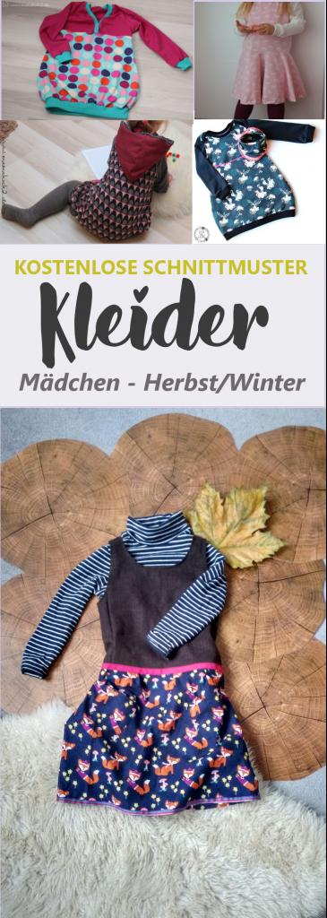 Schnittmuster Kleid Mädchen kostenlos   Herbst/Winter • eager self