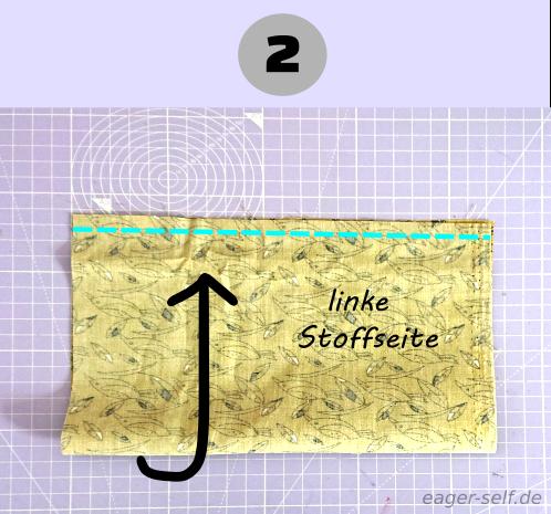 Mundschutz nähen für Anfänger Anleitung Schritt 2